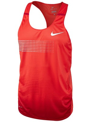 Nike Men's Distance Singlet Crimson