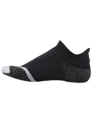 Nike Elite Running Cushion No Show Tab Socks B/W