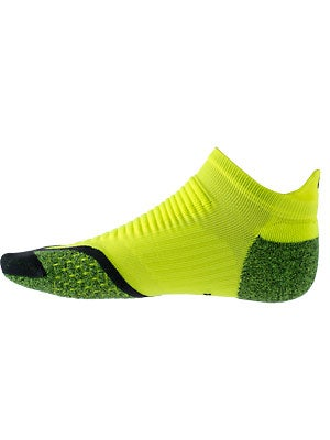 Nike Elite Running Cushion No Show Tab Socks Volt