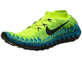 Nike Free 3.0 Flyknit Men's Shoes Volt/Turq/Green