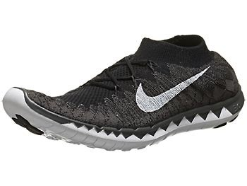 Nike Free 3.0 Flyknit Men's Shoes Black/Fog/Volt