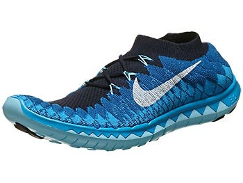 Nike Free 3.0 Flyknit Men's Shoes Obsidian/Blue/White