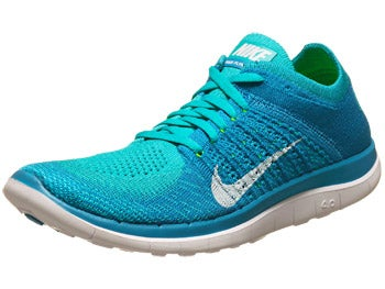Nike Free 4.0 Flyknit Women's Shoes Turq/White