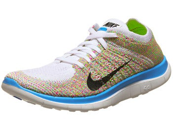 Nike Free 4.0 Flyknit Women's Shoes White/Black/Blue