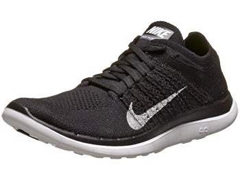 Nike Free 4.0 Flyknit Women's Shoes Black/Grey/White
