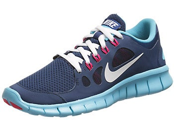 Nike Kids Free 5.0 GS Girl's Shoes Blue