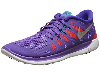 Nike Kids Free 5.0 GS '14 Girl's Shoes Purple/Green