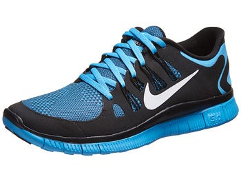 Nike Free 5.0+ Bloom Men's Shoes Black/Vivid Blue