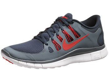 Nike Free 5.0+ Men's Shoes Navy/Slate/White/Red