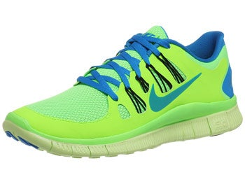 Nike Free 5.0+ Men's Shoes Lime/Black/Blue