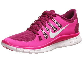 Nike Free 5.0+ Women's Shoes Raspberry Red/Pink Foil
