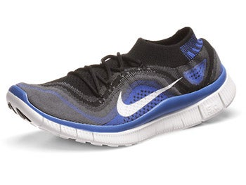 Nike Free Flyknit+ Men's Shoes Black/White/Grey/Royal