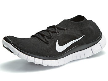 Nike Free Flyknit+ Women's Shoes Black/White