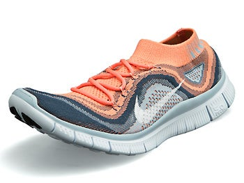 Nike Free Flyknit+ Women's Shoes Pink/White/Blue