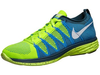 Nike Flyknit Lunar2 Men's Shoes Volt/Blue/Night