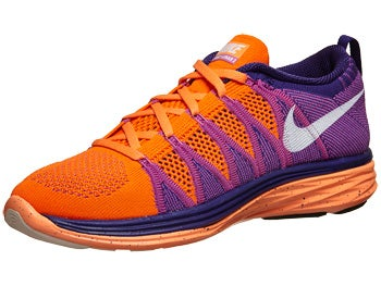Nike Flyknit Lunar2 Women's Shoes Orange/White