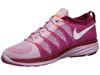 Nike Flyknit Lunar2 Women's Shoes Pink/White