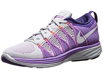 Nike Flyknit Lunar2 Women's Shoes Plat/Purple/White