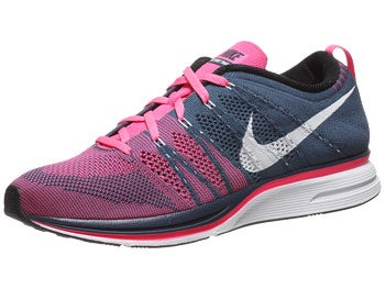 Nike Flyknit Trainer+ Unisex Shoes Blue/White/Pink
