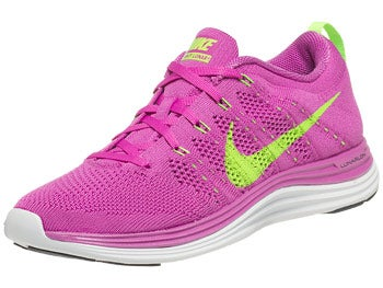 Nike Flyknit Lunar1+ Women's Shoes Pink/Elec Green
