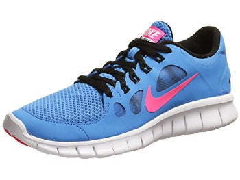 Nike Kids Free 5.0 GS Girl's Shoes Blue/Black