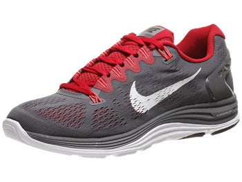 Nike LunarGlide+ 5 Men's Shoes Grey/Red/White