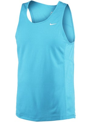 Nike Men's Miler Singlet Blue and Red