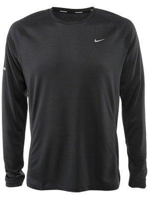 Nike Men's Miler LS UV Black & Anth & White