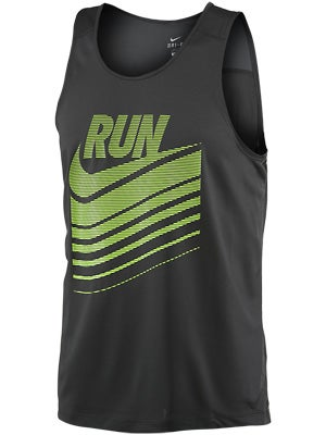 Nike Men's Run Swoosh Tank Anthracite/Volt