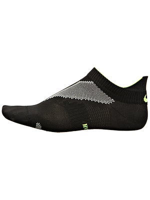 Nike Elite Running Hyper Lite No Show Socks B/W