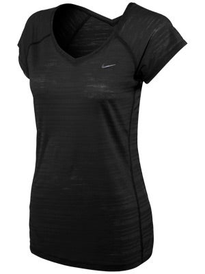 Nike Women's Breeze SS Top Black & White