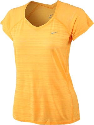Nike Women's Breeze SS Top Atomic Mango