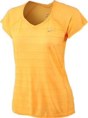 Nike Women's Breeze SS Top Atomic Mango