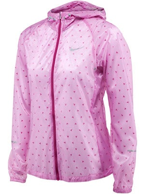 Nike Women's Cyclone Jacket White & Red Violet