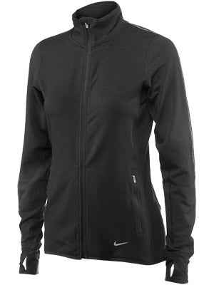 Nike Women's Dri-Fit Feather Fleece Run Full-Zip Black