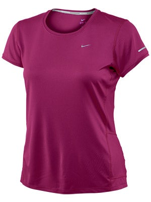 Nike Women's Extended S/S Miler Magenta & Night Factor