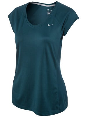 Nike Women's Miler SS V-Neck Top