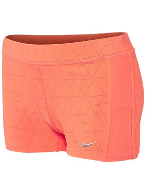 Nike Women's Tempo Boy Short Printed Orange & Magenta