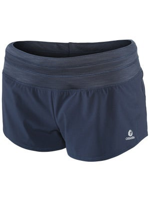Oiselle Women's Mac Roga Short Black & Indigo