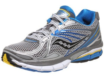 Saucony Hurricane 15 Men's Shoes Silver/Blu/Yellow