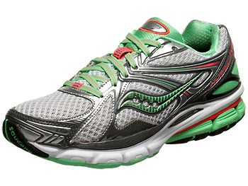 Saucony Hurricane 16 Women's Shoes Grey/Green/Pink