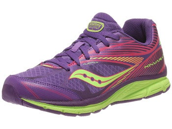 Saucony Kids Kinvara 4 Girl's Shoes Purple/Citron