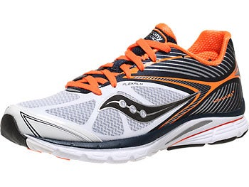 Saucony Kinvara 4 Men's Shoes White/Navy/Orange