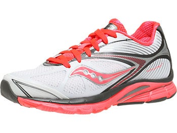 Saucony Kinvara 4 Women's Shoes White/Grey/Vizipro