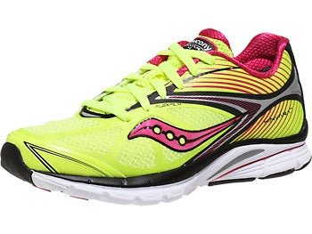 Saucony Kinvara 4 Women's Shoes Citron/Black/Pink