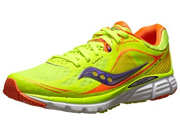 Saucony Kinvara 5 Women's Shoe Citron/ViziOrange/Purple
