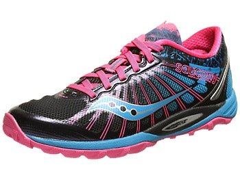 Saucony Kinvara TR2 Trail Women's Shoes Blk/Blu/Pnk