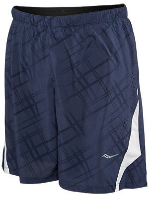 Saucony Men's Interval 2-1 Printed Short Navy/WH