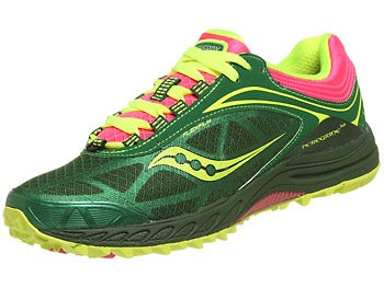 Saucony Peregrine 3 Women's Shoes Grn/Pnk/Citron