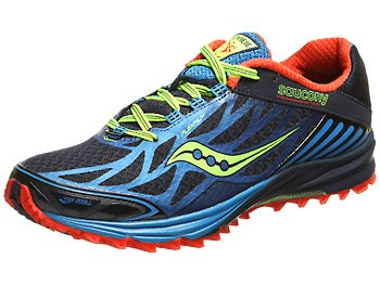 Saucony Peregrine 4 Men's Shoes Blue/Red/Citron